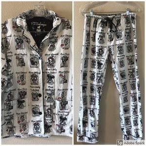 Pj Salvage Women's Pajama Set Dogs Best Dressed